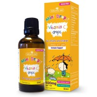 Natures Aid (3 Months-5 Years) Vitamin C 100mg Mini Drops For Infants & Children