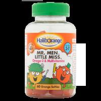 Haliborange Mr. Men Little Miss Omega-3 & Multivitamins 60 Orange Softies For Kids 3-7