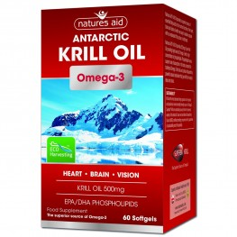 Natures Aid Antarctic Superba Krill Oil 500mg (Omega-3)