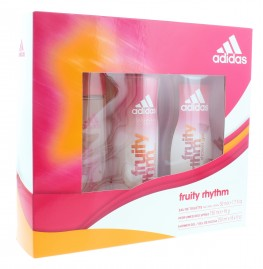 Adidas Fruity Rhythm Set 3pc (Edt Spray, Shower Gel & Deodorant Spray)