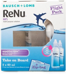 Renu Multi-Purpose Contact Lens Solution Flights 2 X 60ml