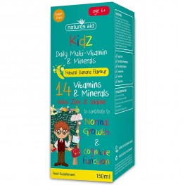 Natures Aid (6-12 Years) Kidz Multi-Vitamins & Minerals
