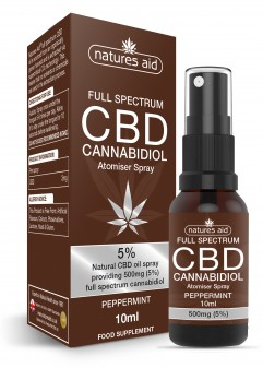 Natures Aid Cbd Oil 5% Spray (Peppermint Flavour)