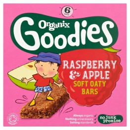 Organix Goodies Cereal Bar Raspberry And Apple Stage 4 30g 6S