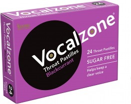 Vocalzone Throat Pastilles Blackcurrant S/F 24