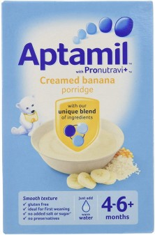 Aptamil Cereals Stage 1 (4+) Creamed Banana Porridge 125g