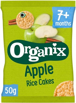 Organix Finger Foods Apple Rice Cakes Stage 2 50g