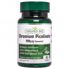 Natures Aid Chromium Picolinate 200µg Elemental