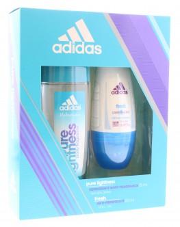 Adidas Pure Lightness Set 2pc (Fragrance Spray & Roll ON Deo)