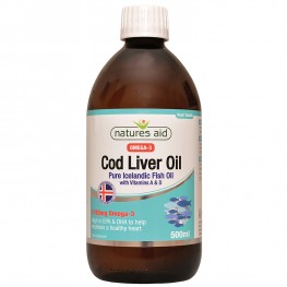 Natures Aid Cod Liver Oil Liquid (With Vitamin A & D)