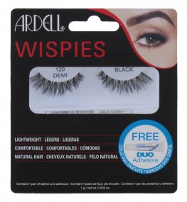 Ardell Wispies Lashes Demi 120 Black With Duo Glue