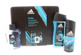 Adidas Ice Dive Set 4pc (Edt Spray, Body Spray, Shower Gel & Tin)