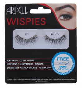 Ardell Wispies Lashes 122 Black With Duo Glue