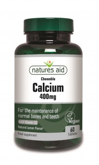 Natures Aid Calcium (Chewable) 400mg (With Vitamin D3) (Suitable For Vegetarians & Vegans)