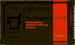 Bio-Vitamin D3 Colecalciferol Capsules 20 000iu