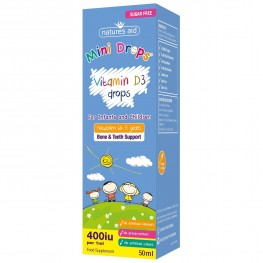 Natures Aid (3 Months-5 Years) Vitamin D3 400iu Mini Drops For Infants & Children