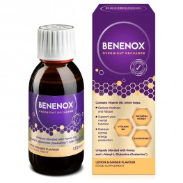Natures Aid Benenox Overnight Recharge - Lemon & Ginger Flavour