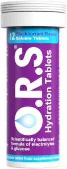 Ors Rehydration Salt Tablets Blackcurrant 12s