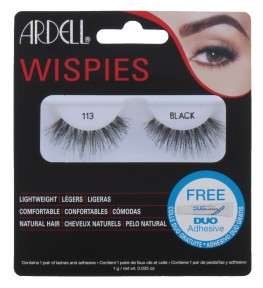 Ardell Wispies Lashes 113 Black With Duo Glue