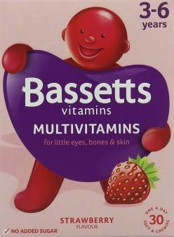 Bassett'S Multivitamin Pastilles 3-6yrs Strawberry