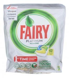 Fairy Platinum All IN One Dishwasher Tabs Lemon