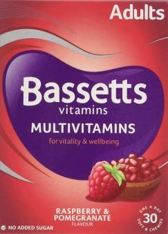 Bassett'S Multivitamin Pastilles Adult Raspberry & Pomegranate