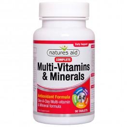 Natures Aid Complete Multi-Vitamins & Minerals (Suitable For Vegetarians & Vegans)