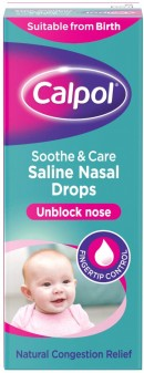 Calpol Soothe & Care Saline Solution Drops