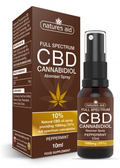 Natures Aid Cbd Oil 10% Spray (Peppermint Flavour)