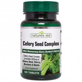 Natures Aid Celery Seed Complex With Montmorency Cherry, Burdock & Nettle