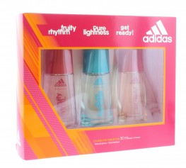 Adidas Edt For Women Set 3pc (Fruity Rhythm, Pure Lightness, Get Ready)