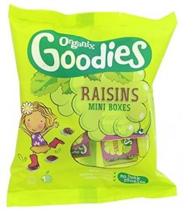 Organix Goodies Sanck Raisins 168g