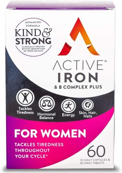 Active Iron &Amp; B Complex Multivitamin For Women Tablets & Capsules 30+30