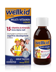 Vitabiotics Wellkid M/Vit Liquid 4-12yrs