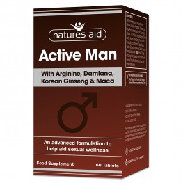 Natures Aid Active Man With Arginine, Korean Ginseng And Maca