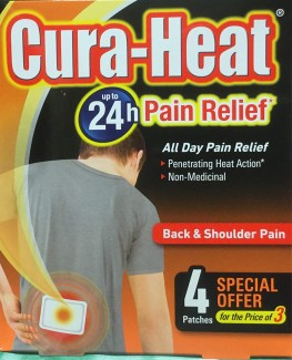 Cura-Heat Heat Pad Back & Shoulders 3+1 Free