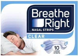 Breathe Right Nasal Strips Clear Large 10s