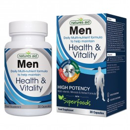 Natures Aid Men'S Multi-Vitamins & Minerals (With Superfoods)