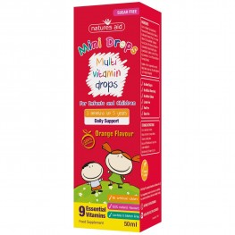 Natures Aid (3 Months-5 Years) Multi-Vitamin Mini Drops For Infants & Children