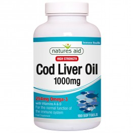 Natures Aid Cod Liver Oil (High Strength) 1000mg