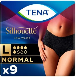 Tena Lady Silhoutette Noir Normal Pants Large