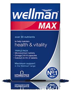 Vitabiotics Wellman Max 28caps/28 Tabs/28 Tabs