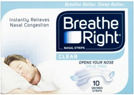 Breathe Right Nasal Strips Clear Regular 10s