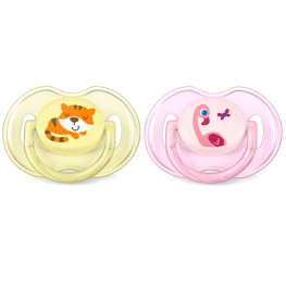 Philips Avent Classic Soothers Tiger & Flamingo 0-6M