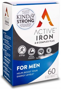Active Iron &Amp; B Complex Plus For Men Tablets & Capsules 30+30