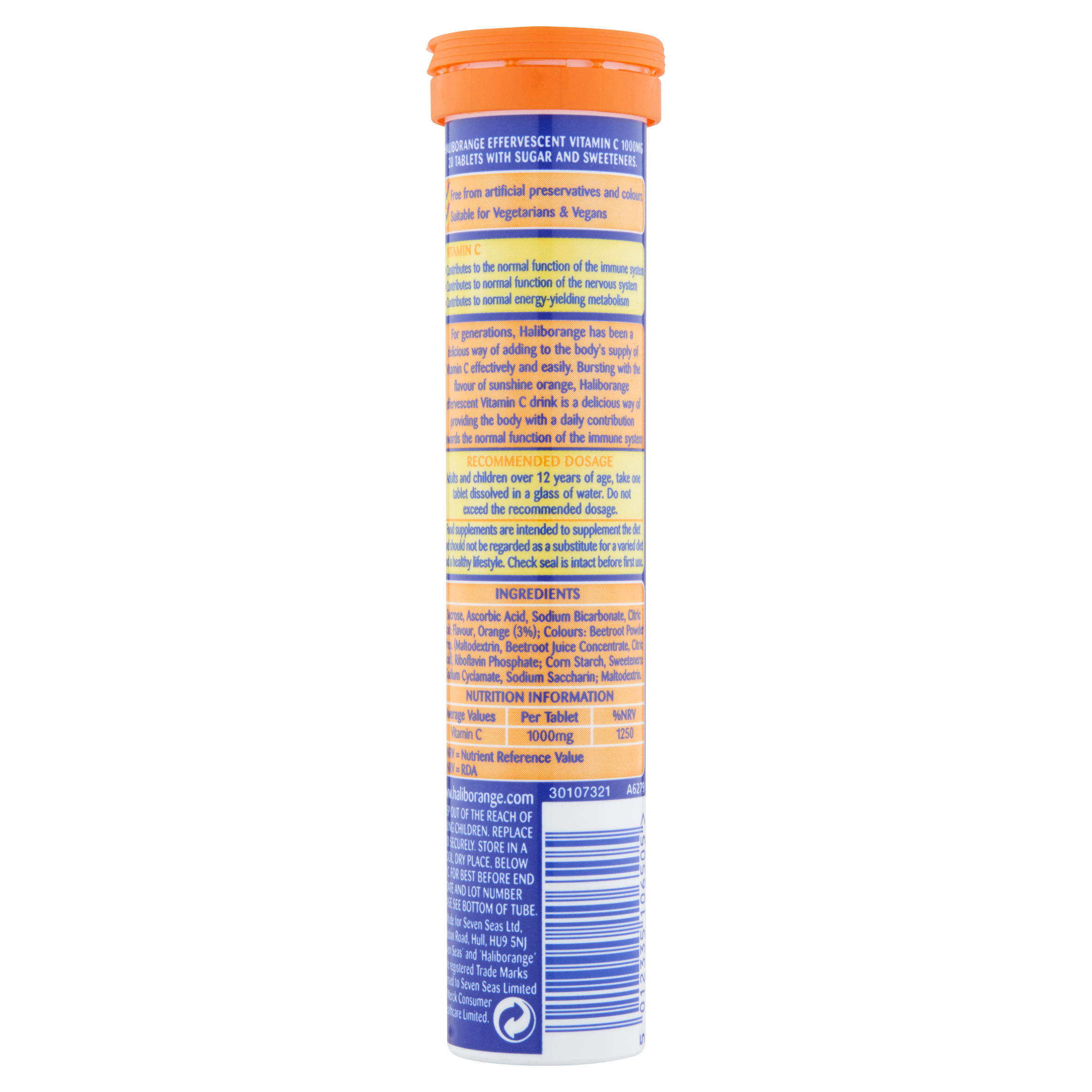 Haliborange Effervescent Vitamin 'C' Orange Flavour Tablets